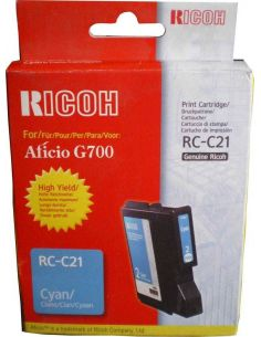 Ultima unidad - Tinta gel Ricoh RC-C21 Cian