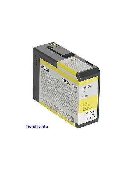 Tinta Epson T5804 AMARILLO (80ml)