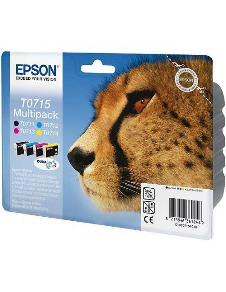 Tinta Pack Epson T0715 BK-C-M-Y (4 cartuchos)