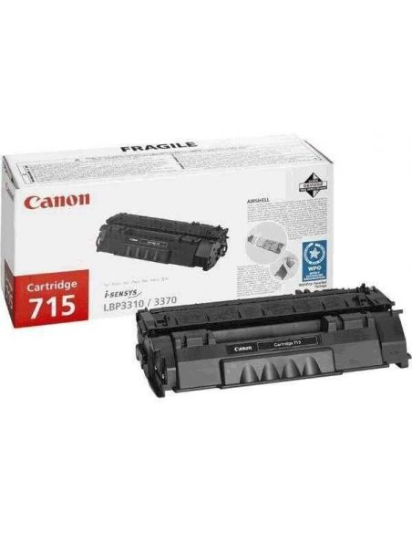 Tóner Canon 715 Negro (3000 Pag) para LBP3310 LBP3370