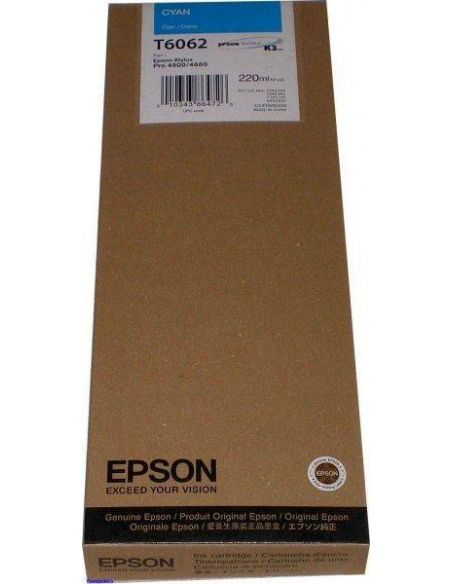 Tinta Epson T6062 Cian (220ml)