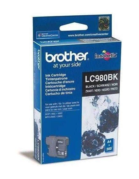 Tinta Brother LC980BK Negro (300 Pag) para DCP145 DCP165