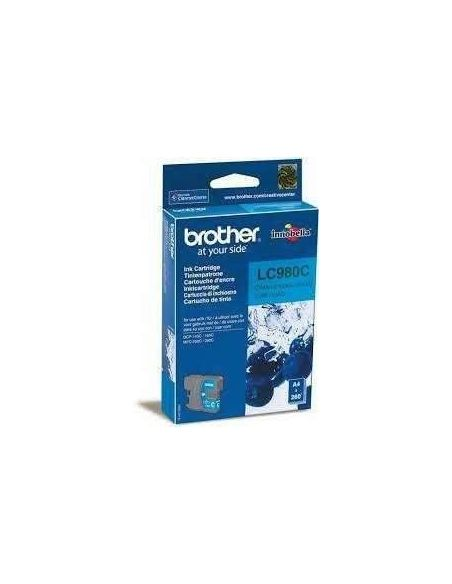 Tinta Brother LC980C Cian (300 Pag) para DCP145 DCP165