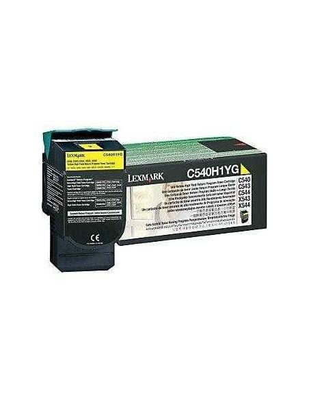 Tóner Lexmark C540H1YG AMARILLO (2000 pag) para C543 y mas