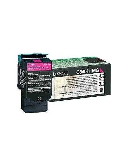 Tóner Lexmark C540H1MG Magenta (2000 Pag) para C543 y mas