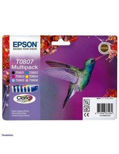 Pack Tinta Epson T0807 BK,C,M,Y,LC,LM (6 Unid)