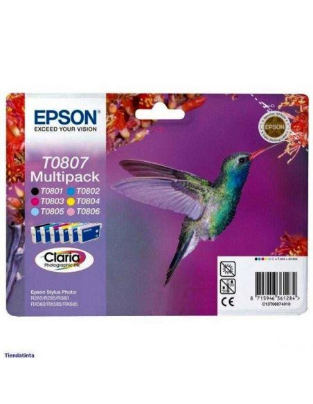 Pack Tinta Epson T0807 BK,C,M,Y,LC,LM (6 Unid)