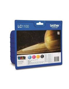 Pack Tinta Brother LC1100VAL BK,C,M,Y (4 Unid)