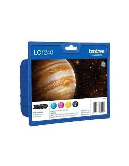 Pack Tinta Brother LC1240VAL BK/C/M/Y (600 pag cada cartucho)