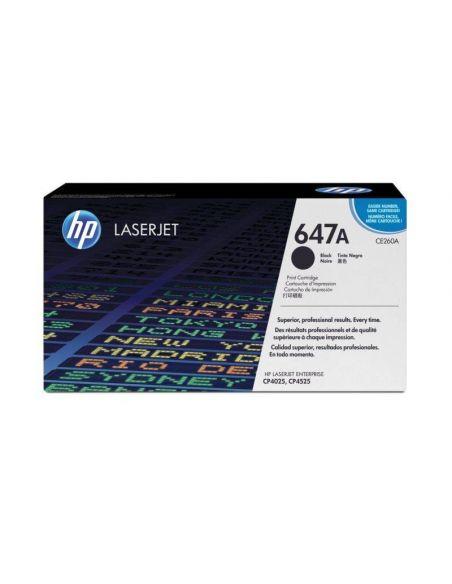 Tóner HP 647A Negro CE260A (8500 Pag) para CM4540F Enterprise CP4025