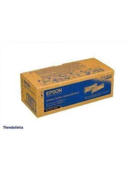 Tóner Pack C13S050631 Epson 0631 Negro para Aculaser C2900 CX29