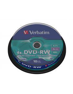 DVD-RW 4.7GB 4x (Tarrina 10 Unid) Verbatim 43552 (+LPI 2,80€)