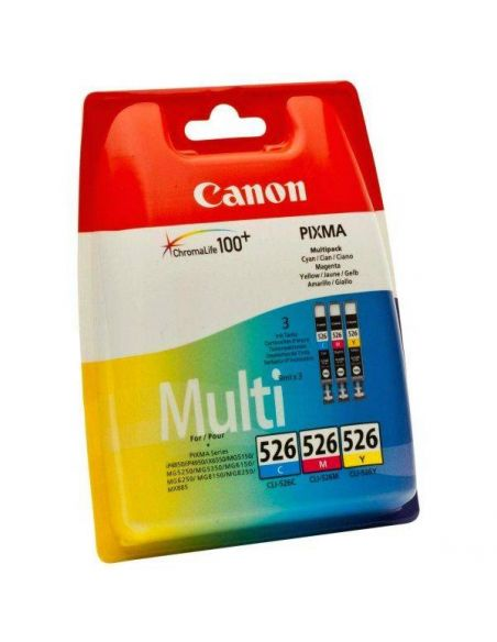 Pack Tinta Canon 526 C,M,Y 4541B009 (9ml)