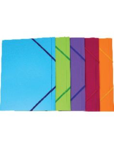 Carpeta gomas A4 3 solapas 320x245 Colores surtidos translucidos 42921509