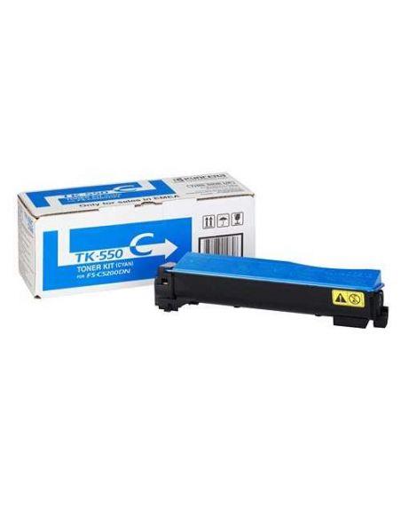 Tóner Kyocera TK550C Cian (6000 Pag) para FSC5200