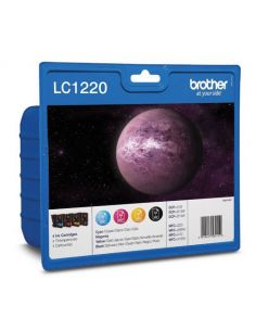 Pack Tinta Brother LC1220VAL BK,C,M,Y...