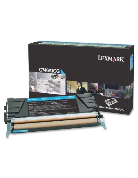 Tóner Lexmark C746A1CG CIAN C746 para C748