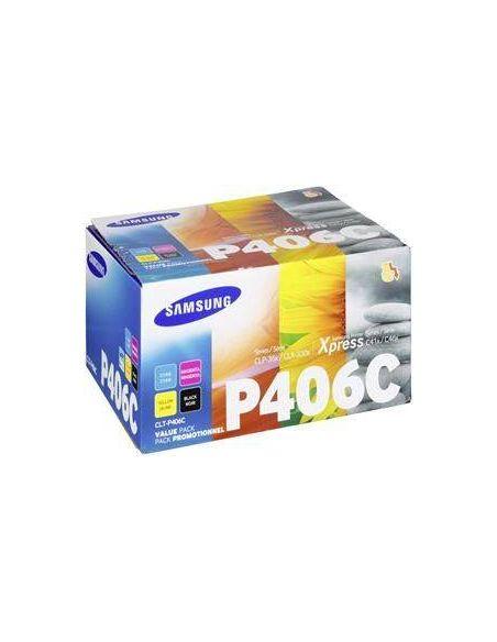 Pack Tóner Samsung P406C Multicolor SU375A para CLP360 CLX3300