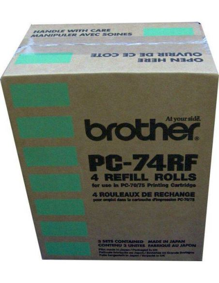 Cinta termica Brother Fax PC74RF (144 pag x 4 rollos)