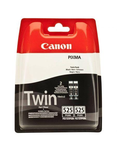 Pack Tinta Canon 525PGBK Negro 4529B010 (2 cartuchos x 19ml)