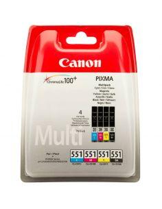 Tinta Pack Canon 6509B009 BK,C,M,Y CLI-551 BK/C/M/Y (7ml x 4) Original