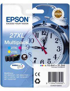 Pack Tinta Epson 27XL C,M,Y (10.4ml x...
