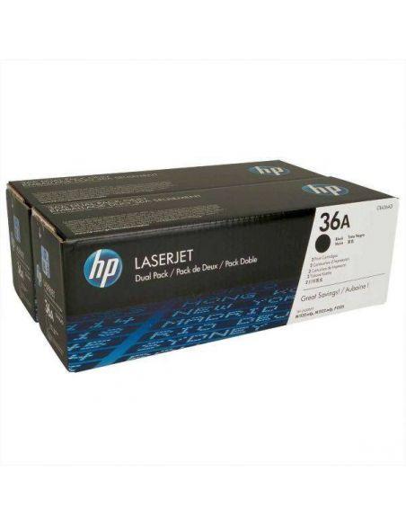 Pack tóner HP 36AD Negro CB436AD para LaserJet MFP M1120 M1522