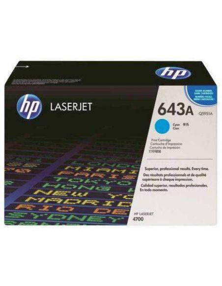 Tóner HP 643A Cian Q5951A (10000 Pag) para Laserjet 4700