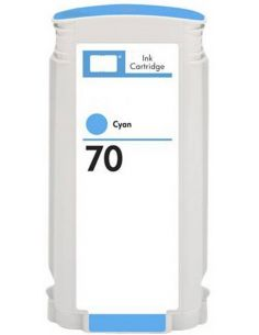 Tinta para HP C9390A Cian Claro Nº70 (130 ml)(No original)