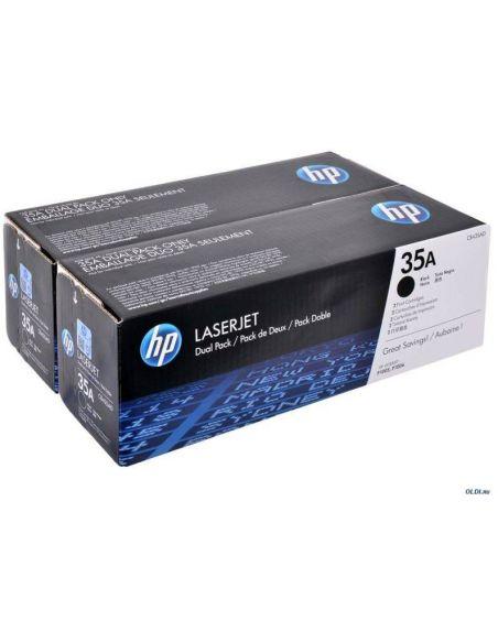 Pack tóner HP 35A Negro CB435AD para LaserJet P1005 P1006