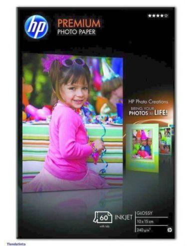 Papel HP A6 Q1992A Glossy Premium (10x15) 240g/m² (60h.)