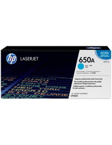 Tóner HP 650A Cian (15000 Pag) para CP5520 y mas