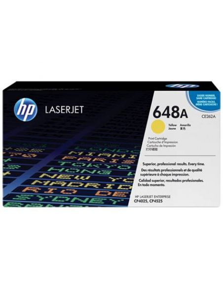 Tóner HP 648A Amarillo CE262A para Laserjet Enterprise CP4025 CP4525