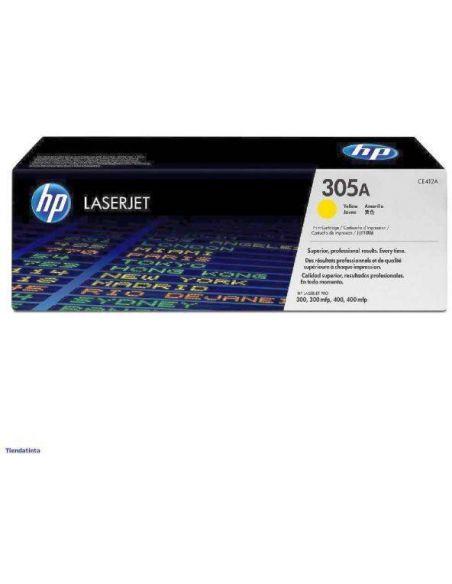 Tóner HP 305A Amarillo CE412A para Laserjet Pro 300 M351 Pro 400 M451