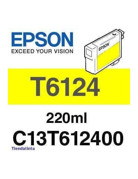 Tinta Epson T6124 Amarillo (220ml)