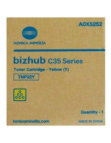 Tóner A0X5252 Konica Minolta TNP-22Y Amarillo para Bizhub C35