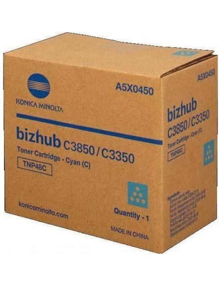 Tóner Konica Minolta TNP48C Cian A5X0450 (10000 Pag) para Bizhub C3350 C3850