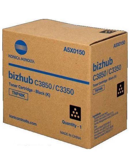 Tóner Konica Minolta TNP48K Negro A5X0150 (10000 Pag) para Bizhub C3350 C3850