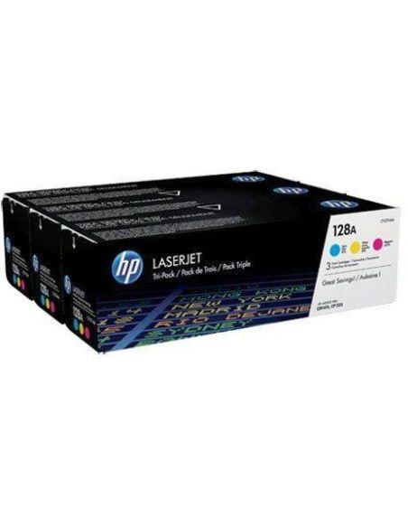 Pack tóner HP 128A Multicolor (1300 Pag x 3 cart) para CM1415 y mas