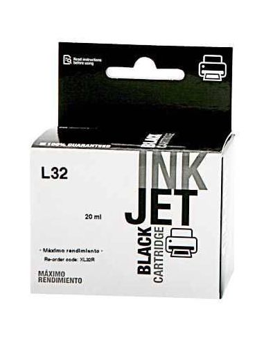 Tinta para Lexmark 18CX032E NEGRO Nº32 (30ml)(No original)