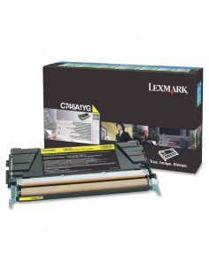 Tóner Lexmark C746A1YG Amarillo (7000 Pag) Original