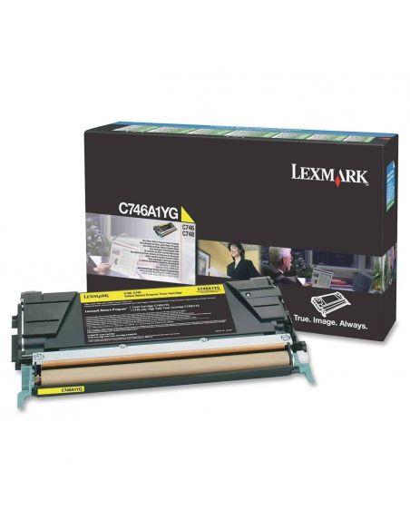 Tóner Lexmark C746A1YG AMARILLO (7000 Pag) para C746 C748