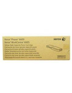 Tóner Xerox Phaser 6600 Amarillo 106R02231 (6000 Pag) Original
