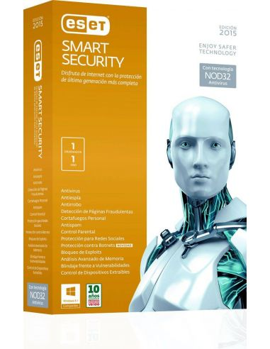 ESET NOD32 Smart Security Antivirus 32/64bits Descarga Online (1 año)
