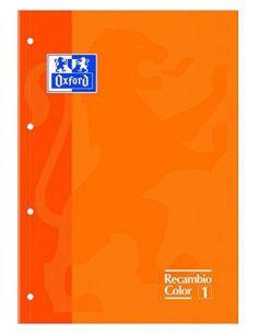 Recambio de papel 80h. A4 Cuadricula 5x5 Naranja 969104