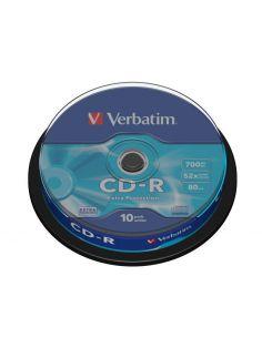 Verbatim 43437 CD-R 700MB 52X SPINDLE 10 DATALIFE