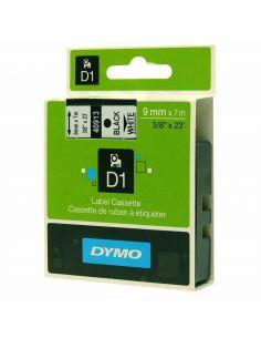 Dymo Tape D1 Black On White 9mmx7m (40913)