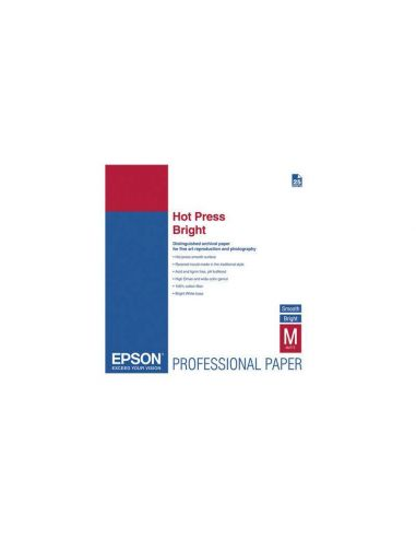 Papel A3+ Epson 042330 ARTÍSTICO HOT PRESS BRIGHT 330g/m² (25h.)