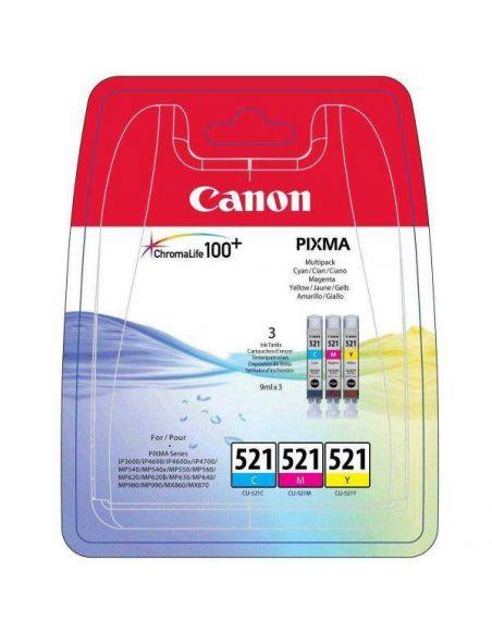 Pack Tinta Canon 521 C,M,Y 2934B010 (3 cartuchos)