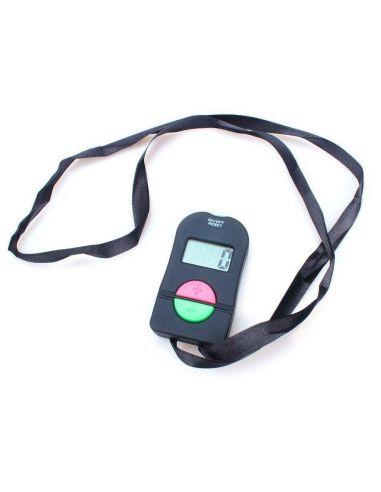 Pulsador digital para control de aforo con boton de aumento y reduccion